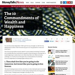 The 10 Commandments of Wealth and Happiness