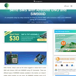 Send SMS with Arduino UNO and SIM900D using AT Commands - The Engineering Projects