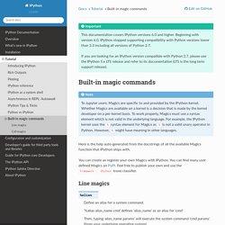 Built-in magic commands — IPython 7.7.0 documentation