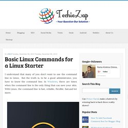 Basic Linux Commands for a Linux Starter