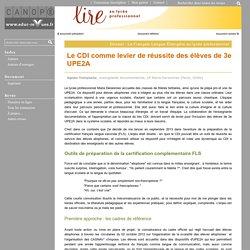 Le CDI comme levier de réussite des élèves de 3e UPE2A