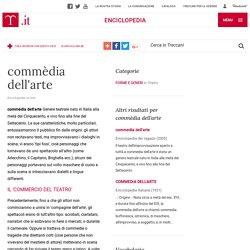 commèdia dell'arte nell'Enciclopedia Treccani