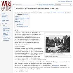 Lausanne, monument commémoratif 1870-1871 — WikiGenWeb