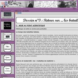 Commémorations du centenaire 14-18, Académie de Grenoble - Retour sur ... les batailles