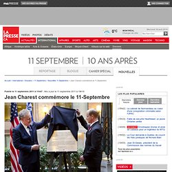Jean Charest commémore le 11-Septembre