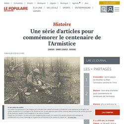 Une série d'articles pour commémorer le centenaire de l'Armistice