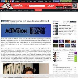 2016 commence fort pour Activision Blizzard