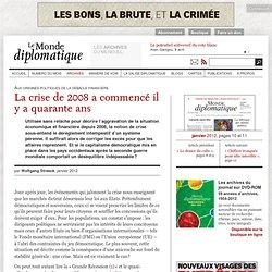 Mort du capitalisme démocratique ?, par Wolfgang Streeck (Le Monde diplomatique, janvier 2012)