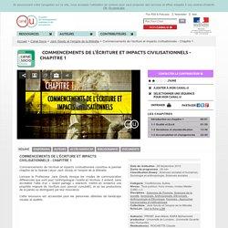 Commencements de l'écriture et impacts civilisationnels - Chapitre 1 - Canal Socio