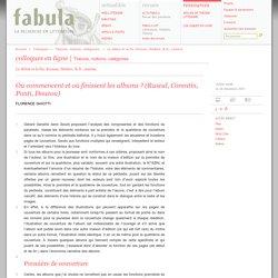 Où commencent et où finissent les albums? (Rascal, Corentin, Ponti, Douzou), par Florence Gaïotti, 2007 (Fabula / Colloques)