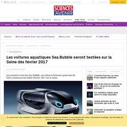 Les tests des Sea Bubbles commencent sur la Seine en février 2017