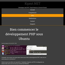 Bien commencer le développement PHP sous Ubuntu