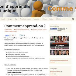 Commend apprend-on ?