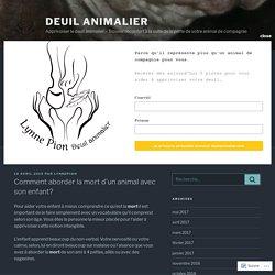 Comment aborder la mort d'un animal avec son enfant? – Deuil animalier
