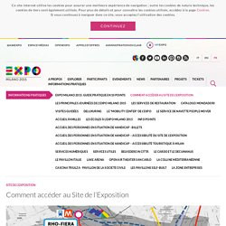 Comment accéder au Site de l'Exposition