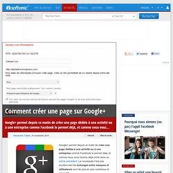 Comment créer une page sur Google+