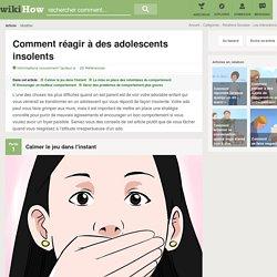 Comment réagir à des adolescents insolents: 25 étapes