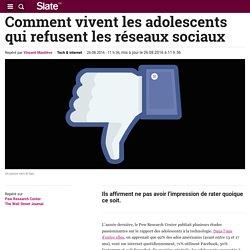 Comment vivent les adolescents qui refusent les réseaux sociaux