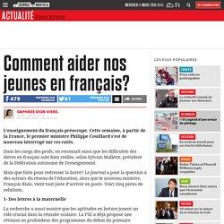 Comment aider nos jeunes en français?