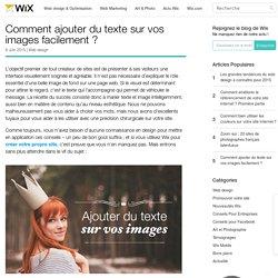 Comment ajouter du texte sur vos images facilement ? - Wix