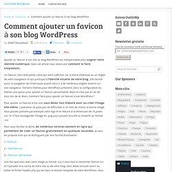 Comment ajouter un favicon à son blog WordPress
