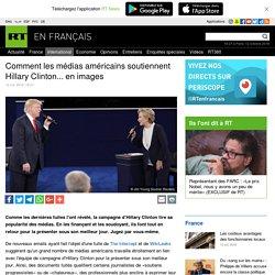Comment les médias américains soutiennent Hillary Clinton... en images