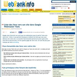 Comment analyser les backlinks de son propre site