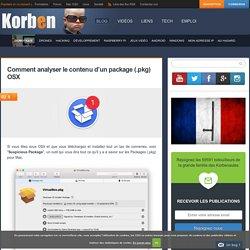 Comment analyser le contenu d'un package (.pkg) OSX