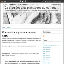 Comment analyser une oeuvre d'art?