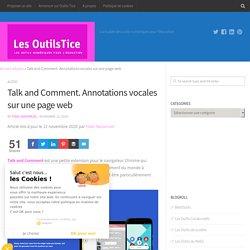 Talk and Comment. Annotations vocales sur une page web