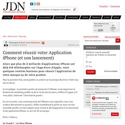 Avis d'expert : Comment réussir votre Application iPhone (et son
