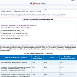 Comment appliquer les différents taux de TVA?