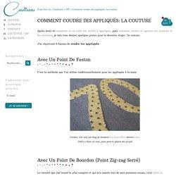 Comment coudre des appliqués: La couture - Caudissou