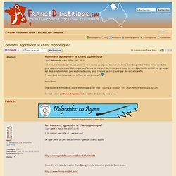 Comment apprendre le chant diphonique? : Le bistro, 2007