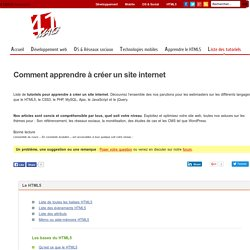 Comment apprendre à créer un site internet