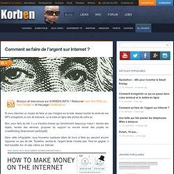 Comment se faire de l'argent sur Internet ?