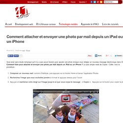 Comment attacher et envoyer une photo par mail depuis un iPad ou un iPhone