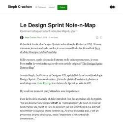 Le Design Sprint Note-n-Map. Comment attaquer la tant redoutée Map…