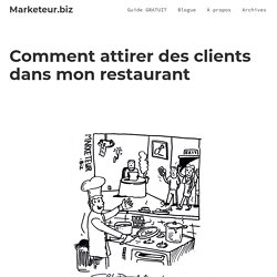 Marketing pour restaurant – Comment augmenter vos ventes