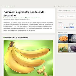 augmenter son taux de dopamine