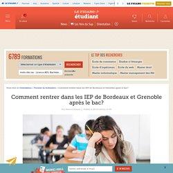 Comment rentrer dans les IEP de Bordeaux et Grenoble après le bac?