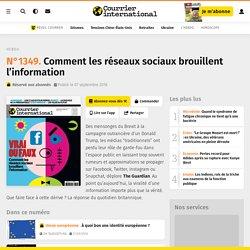 Le titre de une. Hebdo n° 1349 - Comment les réseaux sociaux brouillent l'information