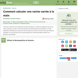 Comment calculer une racine carrée à la main