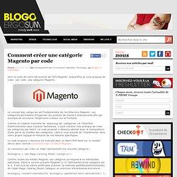 Comment créer une catégorie Magento par code