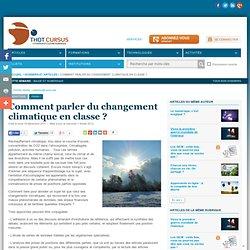 Comment parler du changement climatique en classe ?