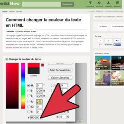 Comment changer la couleur du texte en HTML: 4 étapes
