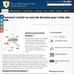 Comment choisir le nom de domaine de votre site web