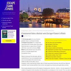 Comment bien choisir son Escape Game à Paris - Escape Game ParisEscape Game Paris