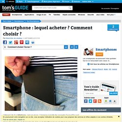 Comment choisir l'écran de son smartphone ?