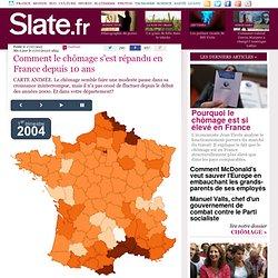 Comment le chômage s'est répandu en France depuis 10 ans